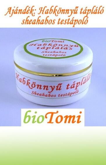 bioTomi ajándék hagkönnyű tápláló sheahabos testápoló