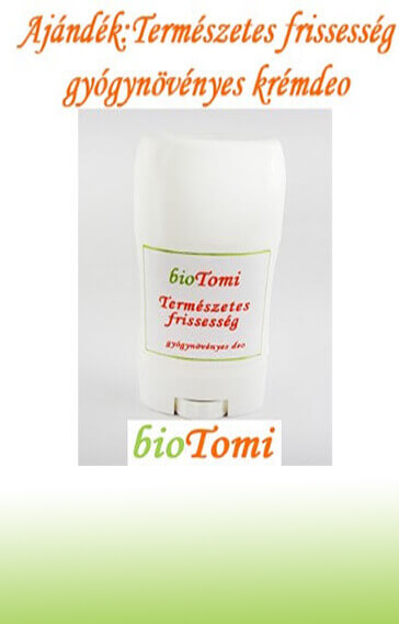 bioTomi ajándék természetes frissesség gyógynövényes krémdeo