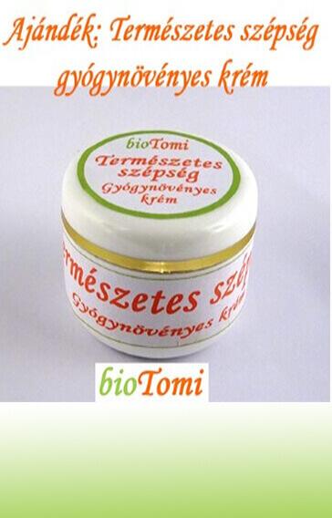 bioTomi ajándék természetes szépség gyógynövényes krém