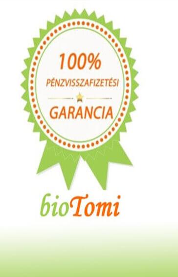 bioTomi búzafűlé pénzvisszafizetési garancia