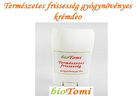 bioTomi natúr gyógynövényes krémcsaládTermészetes frissesség gyógynövényes krémdeo