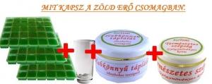 Mit kapsz az zöld erő csomagban Vitaminkomplex és pohár és Sheavajas testápoló és nappali krém